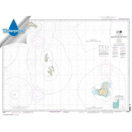 Waterproof NOAA Charts :Waterproof NOAA Chart 16587: Semidi Islands and Vicinity