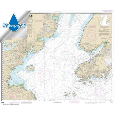 Waterproof NOAA Charts :Waterproof NOAA Chart 16640: Cook Inlet-southern part