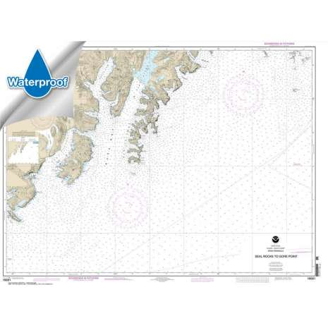 Waterproof NOAA Charts :Waterproof NOAA Chart 16681: Seal Rocks to Gore Point