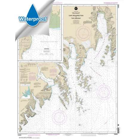 Alaska Charts :Waterproof NOAA Chart 16682: Cape Resurrection to Two Arm Bay;Seward