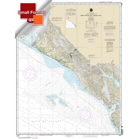 Alaska Charts, Small Format NOAA Chart 16760: Cross Sound to Yakutat Bay