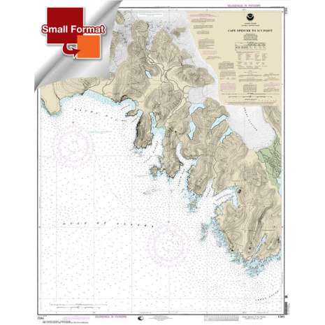 Alaska Charts :Small Format NOAA Chart 17301: Cape Spencer to Icy Point
