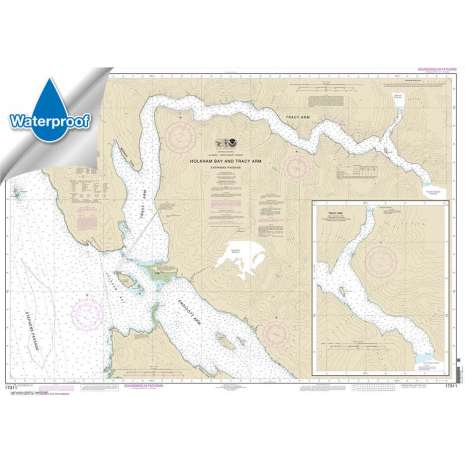 Waterproof NOAA Charts :Waterproof NOAA Chart 17311: Holkham Bay And Tracy Arm - Stephens Passage