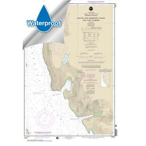 Waterproof NOAA Charts :Waterproof NOAA Chart 17314: Slocum and Limestone Inlets and Taku Harbor