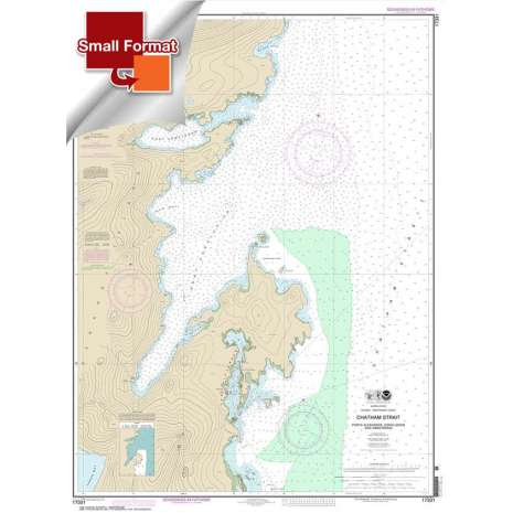Alaska Charts :Small Format NOAA Chart 17331: Chatham Strait Ports Alexander: Conclusion: and Armstrong