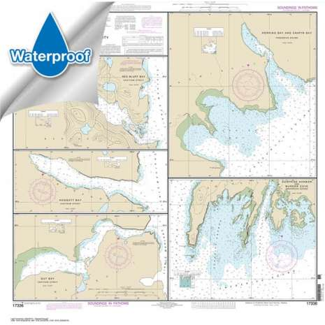 Waterproof NOAA Charts, Waterproof NOAA Chart 17336: Harbors in Chatham Strait and vicinity Gut Bay: Chatham Strait;Hoggatt Bay: Chatham Strait;Red Bluff Bay: Chatham Strait;Herring Bay and hapin Bay: Frederick Sound;Surprise Hbr: and Murder Cove: Frederick Sound