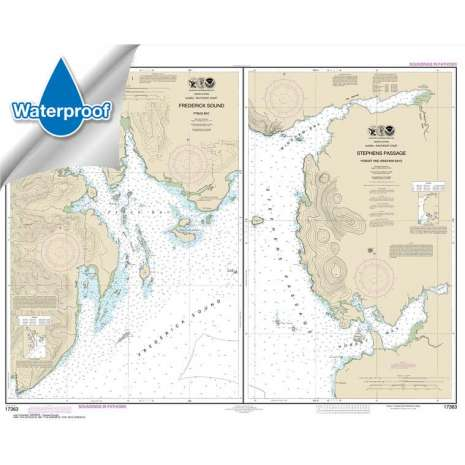 Waterproof NOAA Charts :Waterproof NOAA Chart 17363: Pybus Bay: Frederick Sound;Hobart and Windham Bays: Stephens P.