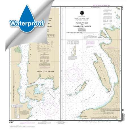 Waterproof NOAA Charts :Waterproof NOAA Chart 17365: Woewodski and Eliza Hbrs.;Fanshaw Bay and Cleveland Passage