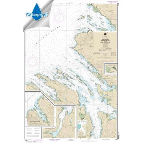 Waterproof NOAA Charts :Waterproof NOAA Chart 17368: Keku Strait-northern part: including Saginaw and Security Bays and Port Camden;Kake Inset