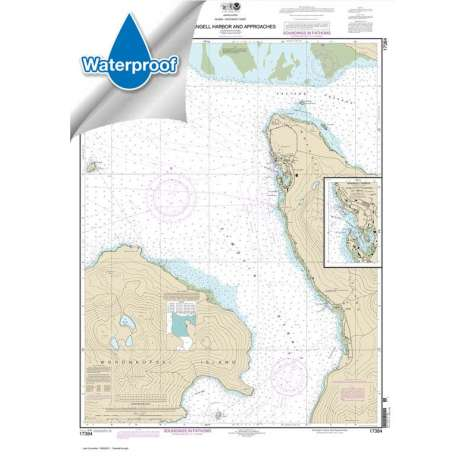 Waterproof NOAA Charts :Waterproof NOAA Chart 17384: Wrangell Harbor and approaches;Wrangell Harbor