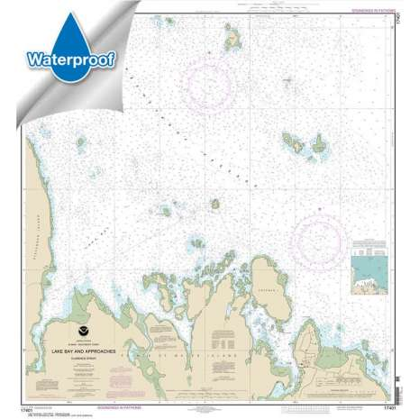 Waterproof NOAA Charts :Waterproof NOAA Chart 17401: Lake Bay and approaches: Clarence Str.