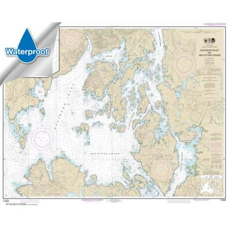 Waterproof NOAA Charts :Waterproof NOAA Chart 17403: Davidson Inlet and Sea Otter Sound;Edna Bay