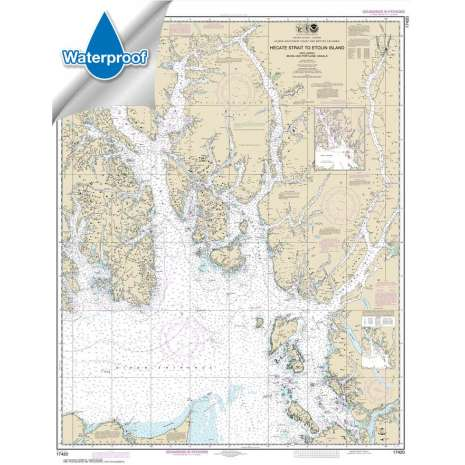 Waterproof NOAA Charts :Waterproof NOAA Chart 17420: Hecate Strait to Etolin Island: including Behm and Portland Canals