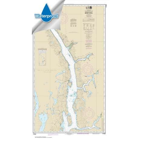 Waterproof NOAA Charts :Waterproof NOAA Chart 17424: Behm Canal-eastern part