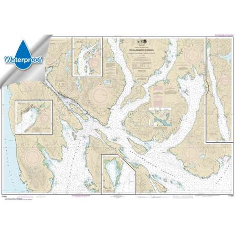 Waterproof NOAA Charts :Waterproof NOAA Chart 17428: Revillagigedo Channel: Nichols Passage: and Tongass Narrows;Seal Cove;Ward Cove