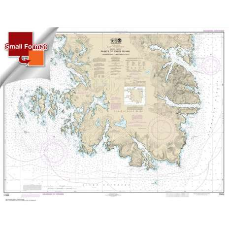 Alaska Charts, Small Format NOAA Chart 17433: Kendrick Bay to SHipwreck Point: Prince of Wales Island