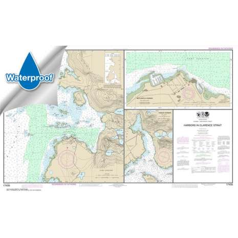 Waterproof NOAA Charts :Waterproof NOAA Chart 17435: Harbors in Clarence Strait Port Chester: Annette Island;Tamgas Harbor: Annette Island;Metlakatla Harbor