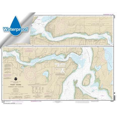 Pacific Coast Charts :Waterproof NOAA Chart 18457: Puget Sound-Hammersley Inlet to Shelton