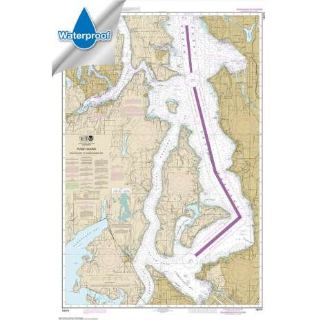 Pacific Coast Charts :Waterproof NOAA Chart 18474: Puget Sound-Shilshole Bay to Commencement Bay