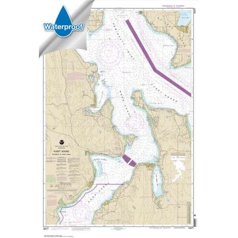 Pacific Coast Charts :Waterproof NOAA Chart 18477: Puget Sound-Entrance to Hood Canal