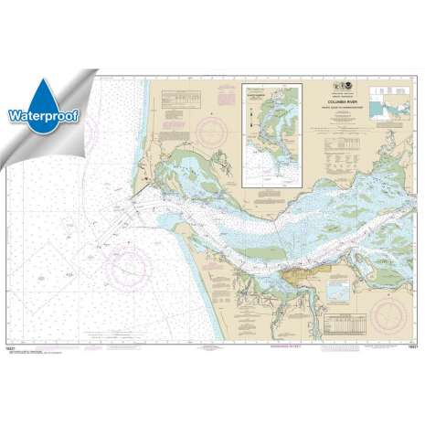 Pacific Coast Charts :Waterproof NOAA Chart 18521: Columbia River Pacific Ocean to Harrington Point;Ilwaco Harbor