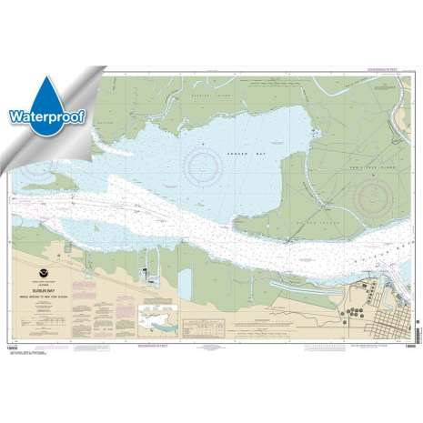 Pacific Coast Charts :Waterproof NOAA Chart 18666: Suisun Bay Middle Ground to New York Slough