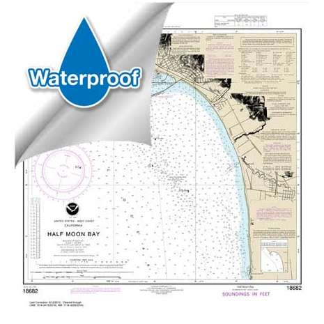Pacific Coast Charts :Waterproof NOAA Chart 18682: Half Moon Bay