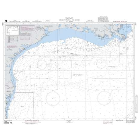Region 1 - North America :NGA Chart 11004: Mississippi River to Rio Grande