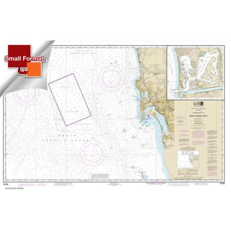 Pacific Coast Charts :Small Format NOAA Chart 18765: Approaches to San Diego Bay;Mission Bay