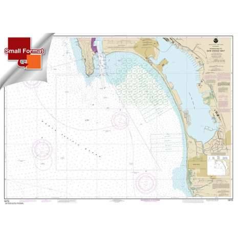 Pacific Coast Charts :Small Format NOAA Chart 18772: Approaches to San Diego Bay