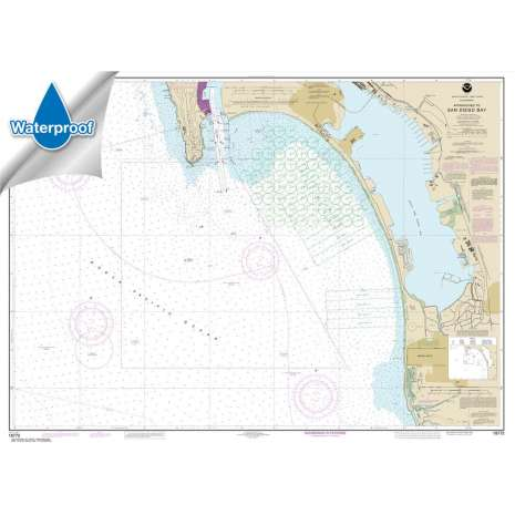 Pacific Coast Charts :Waterproof NOAA Chart 18772: Approaches to San Diego Bay