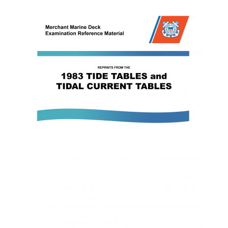 Mariner Training :MMDREF Tide Tables & Tidal Current Tables 1983