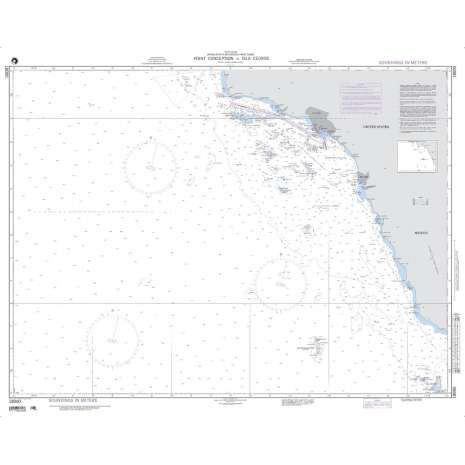Region 1 - North America :NGA Chart 18000: Point Conception to Isla Cedros