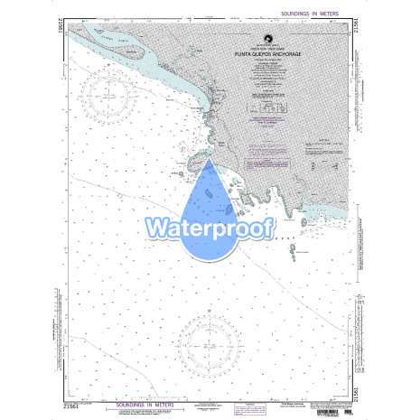 Region 2 - Central, South America, Waterproof NGA Chart 21561: Punta Quepos Anchorage