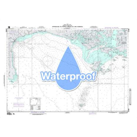 Region 2 - Central, South America :Waterproof NGA Chart 21584: Approaches to Puerto Armuelles and Pedre