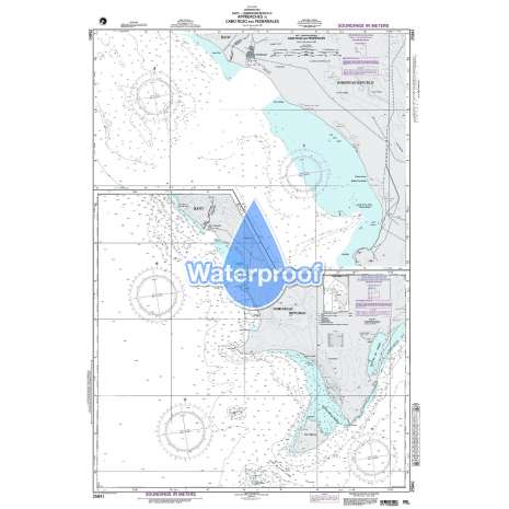 Region 2 - Central, South America :Waterproof NGA Chart 25841: Approaches to Cabo Rojo & Pedernales