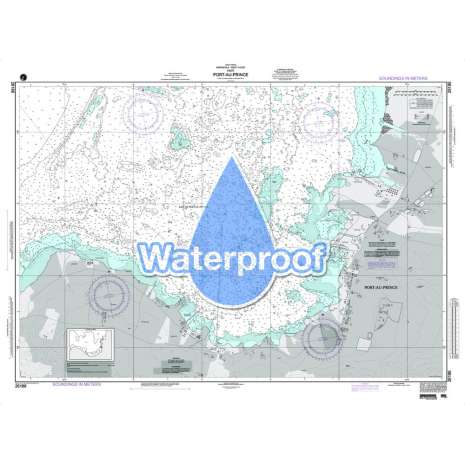 Region 2 - Central, South America, Waterproof NGA Chart 26186: Port - Au - Prince