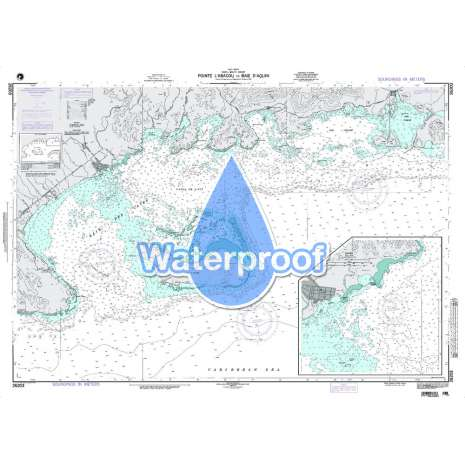 Region 2 - Central, South America, Waterproof NGA Chart 26203: Point L'Abacou to Baie D'Aquin