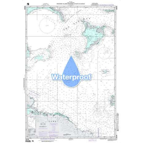 Region 2 - Central, South America, Waterproof NGA Chart 26240: Crooked Island Passage to Punta de Maisi