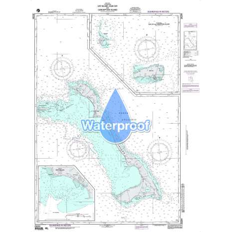 Region 2 - Central, South America, Waterproof NGA Chart 26284: Cat Island