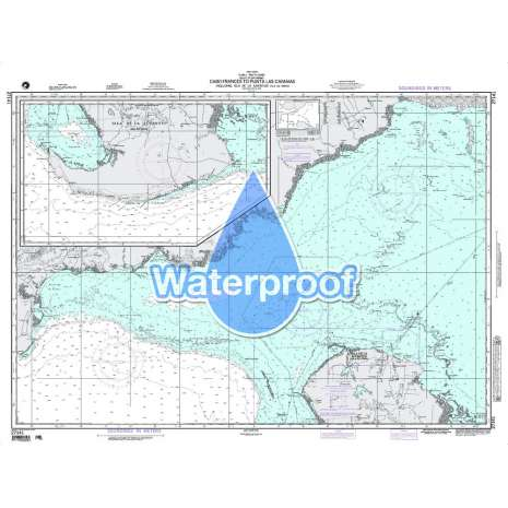 Region 2 - Central, South America, Waterproof NGA Chart 27141: Cabo Frances to Punta Las Cayamas Includ