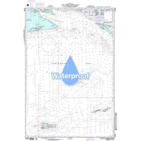 Region 2 - Central, South America :Waterproof NGA Chart 27160: Cayo Largo to Cayo Blanco Including Caym