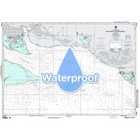 Region 2 - Central, South America :Waterproof NGA Chart 27161: Cayo Miguel to Cayo Blanco