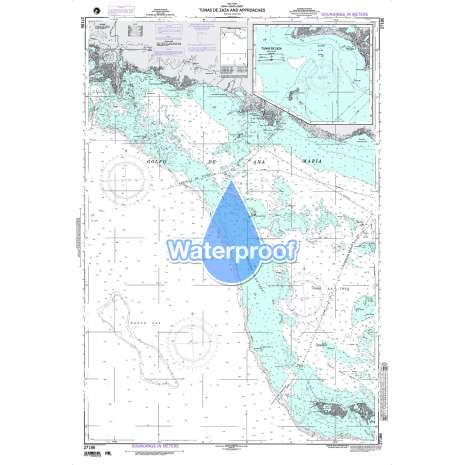 Region 2 - Central, South America :Waterproof NGA Chart 27186: Tunsas de Zaza and Approaches
