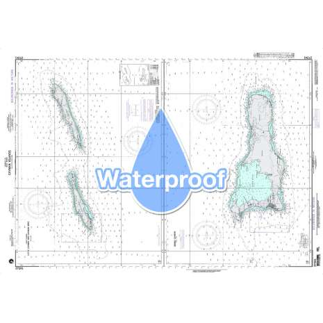 Region 2 - Central, South America :Waterproof NGA Chart 27241: Little Cayman and Cayman Brac