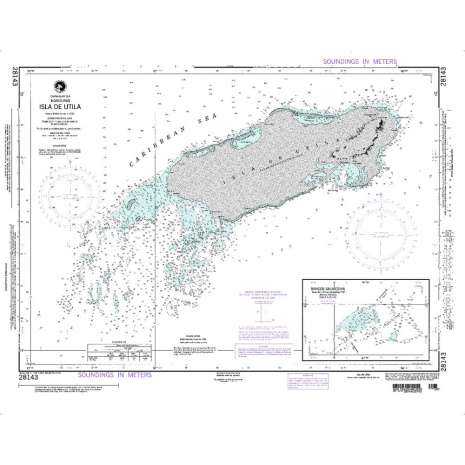 Region 2 - Central, South America :NGA Chart 28143: Isla de Utila
