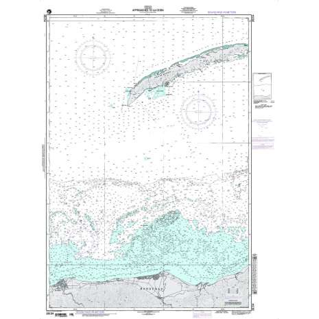 Region 2 - Central, South America :NGA Chart 28154: Approaces to La Ceiba