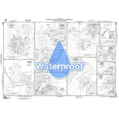 Region 2 - Central, South America :Waterproof NGA Chart 29106: Plans On the Ant. Penn. and Adj. Islands - Melchoir Islands