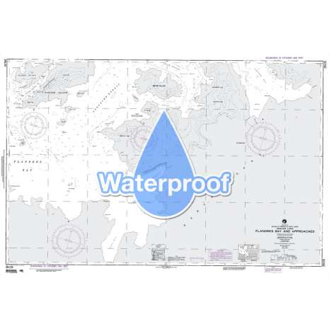Region 2 - Central, South America, Waterproof NGA Chart 29125: Flandres Bay and Apprs