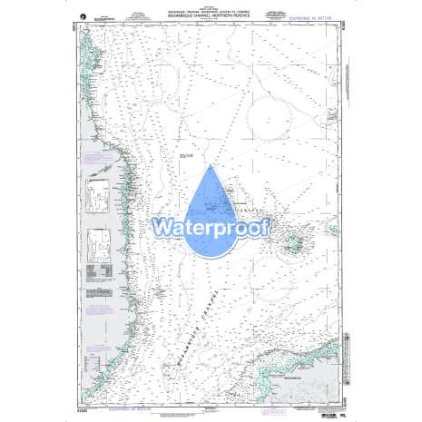 Region 6 - Eastern Africa, Southern & Western Asia, Waterproof NGA Chart 61400: Mozambique Channel - Northern Reaches